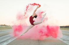 Ballet jump and smoke. Mississippi Senior Portrait