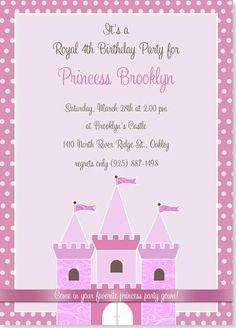 Birthday Party Invitations - Royal Princess Birthday Invitation