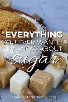 Here is the lowdown on over 25 different types of sugar and sweeteners on the market today, how they are produced and how they effect your health.