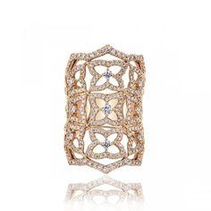 Gabriel & Co. - 18Kt Pink Gold Fashion Rings. $5,610.