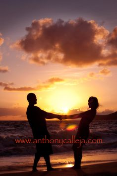 Hawaii Beach Silhouette pictures