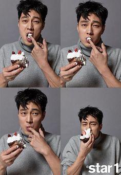 So Ji Sub being cute even when he eats