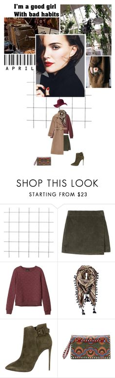 """""""I'm a good girl with bad habits."""" by miky94 ❤ liked on Polyvore featuring Monki, Izaro, ASOS, Giuseppe Zanotti, Valentino and OPTIONS"""
