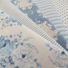 Tilda Fabric Bundle  Blue  Smaller Pieces by PrettyFabricandTrims, $18.75