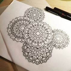 Mandala cluster for Micky.  #tattoo #tattoodesign #design #drawing #art #penandink #handdrawn #mandala #mehndi #blackndark #blackworkers #blacktattooart #domholmestattoo #theblacklotusstudio