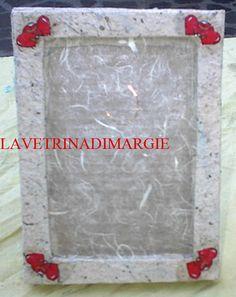 Cardboard frame handmade