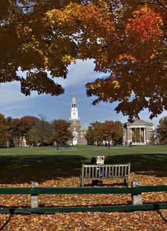 A view of Baker Library and the Green, October 2010 (photo: Joseph Mehling Leaves Changing Color, Dartmouth College, Dream School, Autumn Scenery, White Mountains, College Campus, Ivy League, New Hampshire, Travel Usa