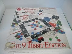 Rare Vintage The 9 Tibbit Edition Board Game Sealed FAO Schwarz Exclusive 1992 #TibbitInternational