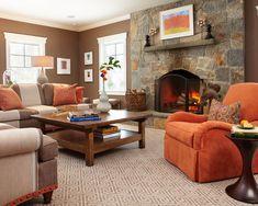 15 Close to Fruity Orange Living Room Designs Orange living