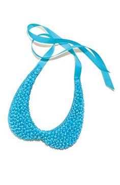 Tasha Dazzling Blue Beaded Collar $38