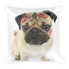 This soft pillow is an excellent addition that gives character to any space. It comes with a soft polyester insert that will retain its shape after many uses, and the pillow case can be easily machine #PugWorld