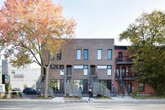 Gallery of The François-René Project / Architecture Open Form + Maître Carré - 1 Architecture Résidentielle, Contemporary Architecture, Small Front Yards, Rooftop Patio, Character Home, Brick Facade, Residential Interior Design, Built Environment, Beautiful Landscapes