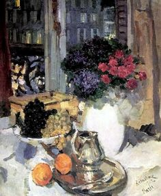 Pinks and violets in a white vase, Konstantin Korovin. Russian Painting, Russian Art, Icelandic Artists, Academic Art, Fashion Painting, Classical Art, Renaissance Art, Great Artists, Flower Art