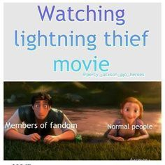 That was so me when I watched it with my friends who mostly hadn't read the books