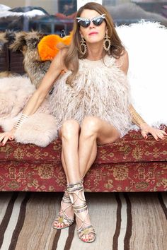 Our feathered friend. http://www.thecoveteur.com/anna_dello_russo