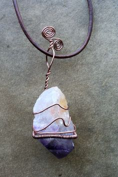 Amethyst Necklace Healing Crystal Jewelry by ThriftyGypsies, $28.00