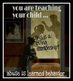 Abuse is learned behavior. When you have an unhealthy relationship, your child sees the viewpoint of the abuser and the victim. Either way, your child is headed for trouble as an adult, as they have no experience with healthy family relationships or partners. You might be able to handle the conflict at home, but your children cannot.