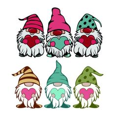 Love Gnomes Heart Valentines day Cuttable Design SVG PNG DXF & eps Designs Cameo File Silhouette - The Effective Pictures We Offer You About yarn crafts A quality picture can tell you many things. Valentines Day Drawing, Valentines Day Clipart, Valentines Day Hearts, Valentine Day Gifts, Valentines Day Doodles, Valentines Day Cartoons, Kids Valentines, Valentine Heart, Christmas Gnome