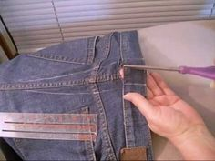 how to take in the waist of jeans the right way.  This is a great website for alterations done right