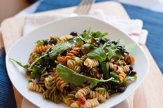 pasta salad with tuna, olives, capers. I finally made this and it was delicious!