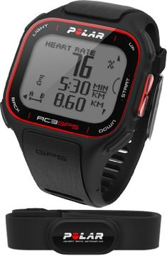 Polar GPS Black - a GPS watch and heart rate monitor. A good fitness gift for the serious runner or cyclist. Equipement Running, Gps Bike, Fitbit, Gps Sports Watch, Polaroid, Running Watch, Running Gps, Android Watch, Fitness Gifts