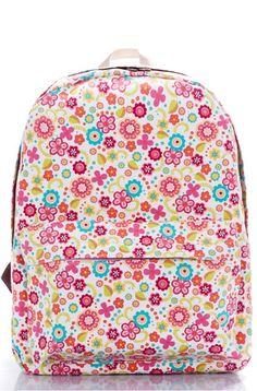 "Amazon.com: Ropper Lightweight Canvas Cute Pattern Kids School Backpack,15"" (Flower): Clothing"