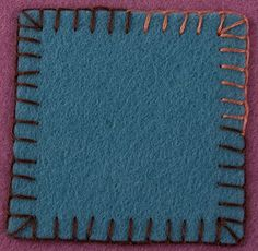 How To Appliqué Wool Felt - Blanket Stitch - Beginner Lesson 2 — How to do corners and change thread