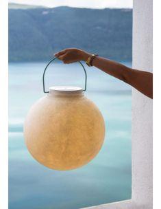 Lampe nomade Luna Take Away en forme de lune en Nebulite par In-es Art Design Diode Led, A Table, Table Lamp, Luminaire Design, Art Design, Lighting Design, Floor Lamp, Contemporary Design, Industrial Design