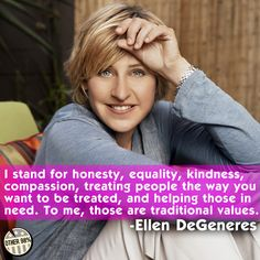 Ellen gets it. Re-pin if you share her values.