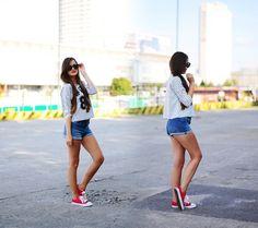 Sinsay Shorts, Ai M Style Blouse