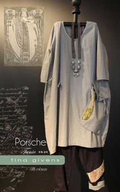 THE PORSCHE TUNIC SEWING PATTERN, from Tina Givens, *NEW* #TinaGivens
