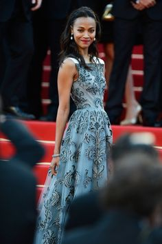 CANNES, FRANCE - MAY 20: Zoe Saldana attends the Blood Ties Premiere during the 66th Annual Cannes Film Festival at the Palais des Festivals on May 20, 2013 in Cannes, France. (Photo by Pascal Le Segretain/Getty Images)
