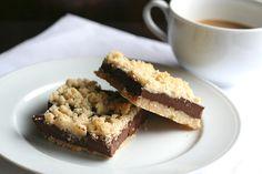 Low Carb Grain-Free Chocolate Fudge Crumb Bars