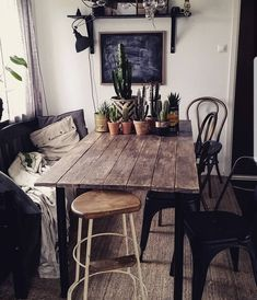 Beautiful rustic dining room ❤️ by fridashem_ on instagram