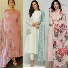 For details / order please dm or Whatsapp on . Designer Party Wear Dresses, Kurti Designs Party Wear, Indian Designer Outfits, Party Dresses, Stylish Dresses For Girls, Stylish Dress Designs, Designs For Dresses, Churidar Designs, Kurta Designs Women