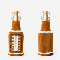 You can't drink beers during football games without these touchdown-worthy cozies.