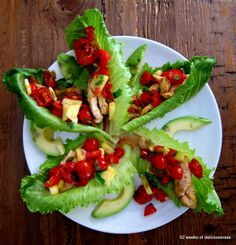 Chicken tacos on a salad