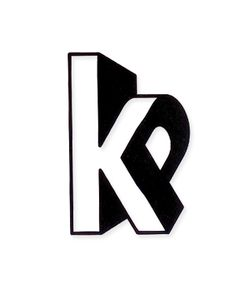 KP #logo #design - perfect use of typo, contrast and 3D flat design effect.