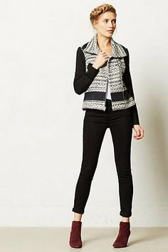 Textured Moto Jacket #anthropologie