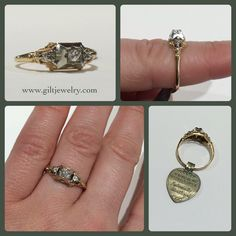 This c1940 14k two tone diamond ring still has its original tags! $595. Call to purchase. #giltjewelry #newoldstock #1940 #ringsoromance #ringoftheday #wedding #engagementring #vintagering