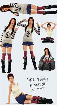 Extra Ordinary pose pack by Rayne - Sims 3 Downloads CC Caboodle