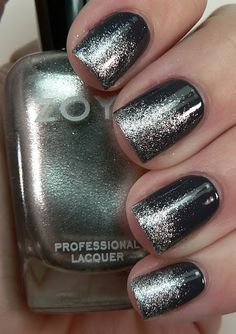 Black With Silver Sparkle Gradient