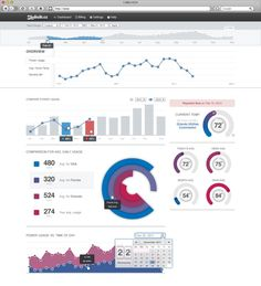 24 beautifully-designed web dashboards that data geeks will love | Econsultancy