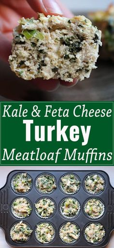 Kale and feta cheese meatloaf muffins are a quick and easy dinner recipe.Creamy feta cheese, yummy kale, and lots of dill in the perfect single serve size.  via @abrapappa