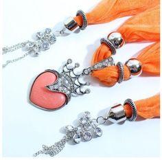 Silver Crown Heart Pendant Jewelry Scarf Charms Wholesale beautiful pendants from www.jewelryscarfcanada.com