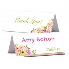 TENT CARDS Printed Place Cards Floral Wedding Place Card Peony Place card Editable Wedding Name Cards Food Labels Cards Wedding Wedding Name Cards, Tent Cards, Food Labels, Peony, Floral Wedding, Place Card Holders, Peonies