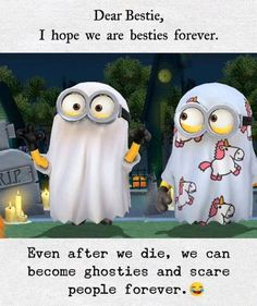 To all my besties ! Best Friend Quotes Funny, Cute Funny Quotes, Besties Quotes, Really Funny Memes, Stupid Funny, Hilarious, Funny Minion Memes, Funny School Jokes, Minions Quotes