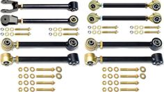 Currie Control Arms Set with Double Adjustable Rear Uppers   CE-9100A - https://www.4lowparts.com/shop/suspension-lift-kits/control-arms-jeep/control-arm-set-double-adjustable-rear-uppers-8-piece/