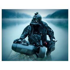 Special operations forces combat diver with underw Poster