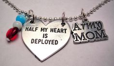 Army Mom Necklace Military Necklace by CorsoStudio on Etsy, $16.00